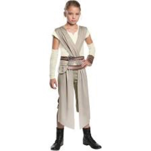 Rubie's Other - Girls Star Wars Force Awakens Rey Costume New